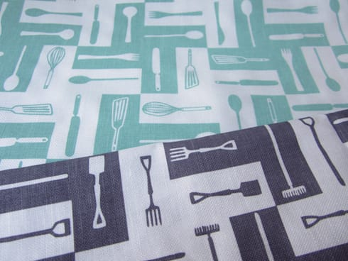 Plot to Plate tea towels by Kate Farley: modern Kitchen by Kate Farley