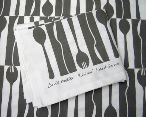 'Chelsea' David Mellor tea towel by Kate Farley: modern Kitchen by Kate Farley