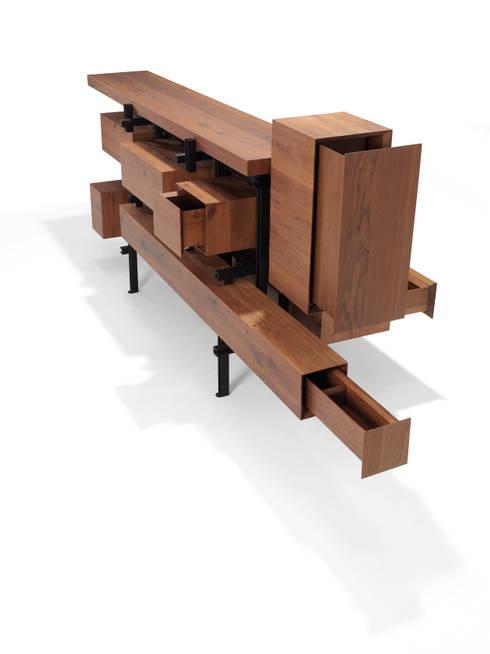 Projekty,  Salon zaprojektowane przez Studio Roderick Vos