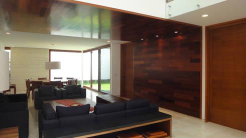 Casa AA: Salas de estilo moderno por ze|arquitectura