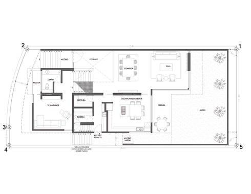 Casa AA:  de estilo  por ze|arquitectura