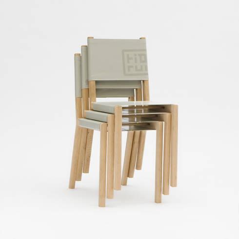 Spanstoel: minimalistische Eetkamer door Tiddo de Ruiter