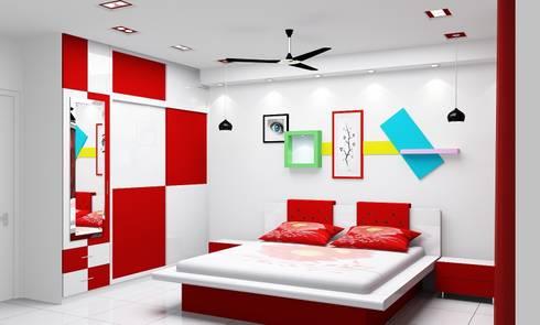 Bedroom No. 3:   by Universal Pride Interiors Pvt. Ltd.