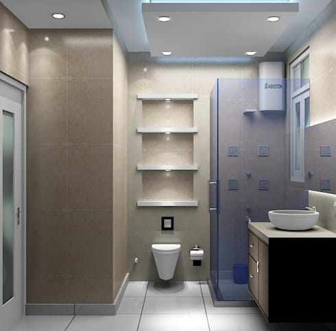 Toilet 2:   by Universal Pride Interiors Pvt. Ltd.