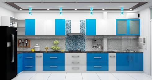 Kitchen:   by Universal Pride Interiors Pvt. Ltd.