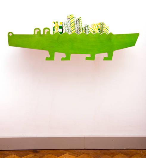 """zookids-Wandregal """"Kroko"""":  Kinderzimmer von JulicaDesign"""