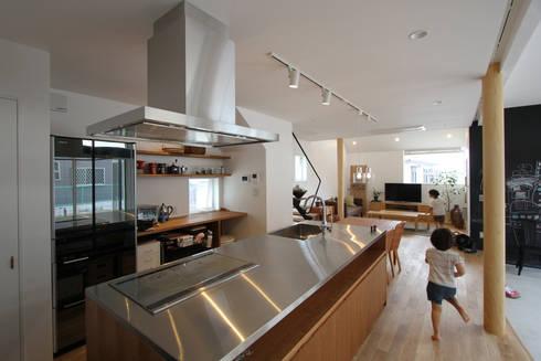 土間リビングの家: FCDが手掛けたキッチンです。