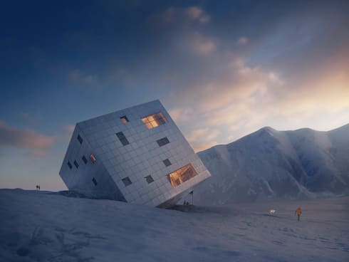 SUSTAINABLE PASSIVE MOUNTAIN HUT IN THE HIGH TATRAS: modern Houses by ATELIER 8000