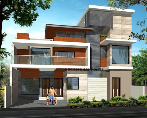 residence designs by A Square Architects | homify