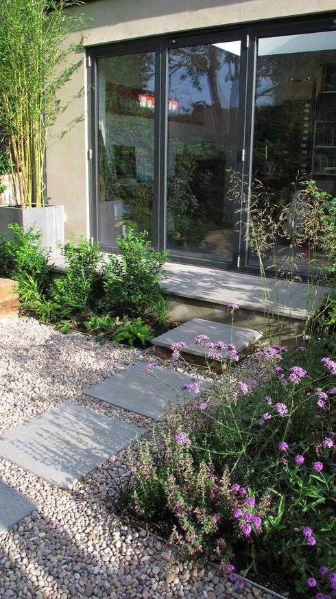 Contemporary Pergola Garden: modern Garden by Fenton Roberts Garden Design