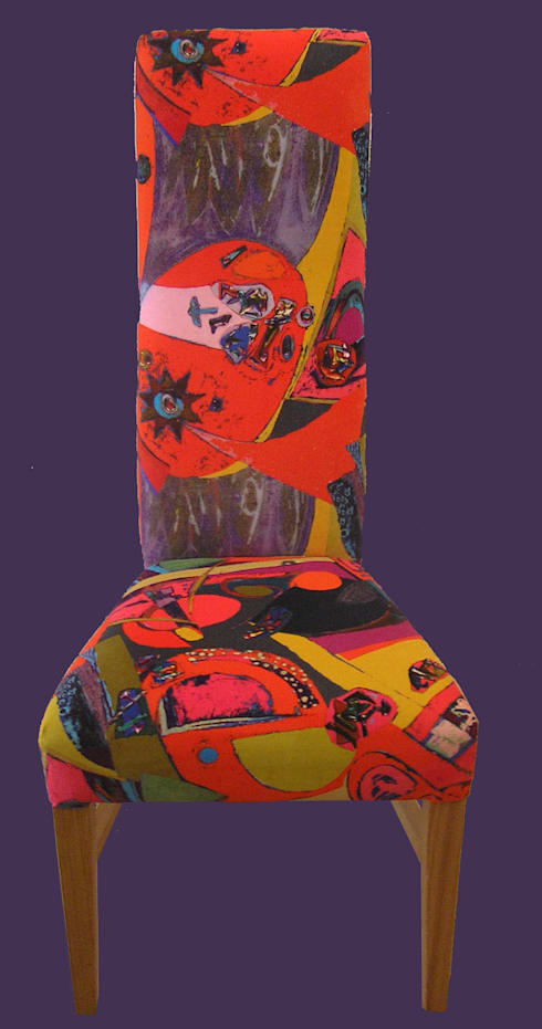 Examples of Michelle Scragg's Upholstered Furniture:  Artwork by Michelle Scragg