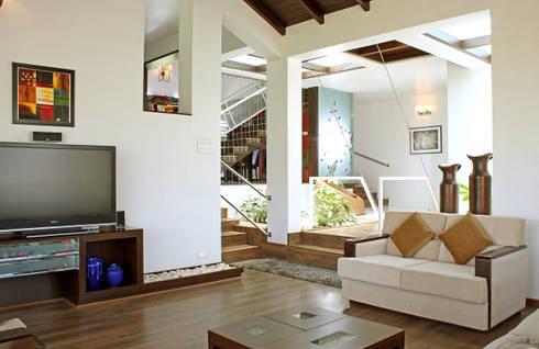 Residence for Mr Arvind Kalburgi:   by Kembhavi Architecture Foundation