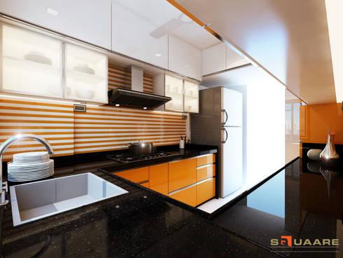 Kitchen:  Kitchen units by Squaare Interior