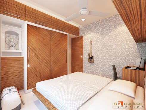 Second Bedroom:   by Squaare Interior