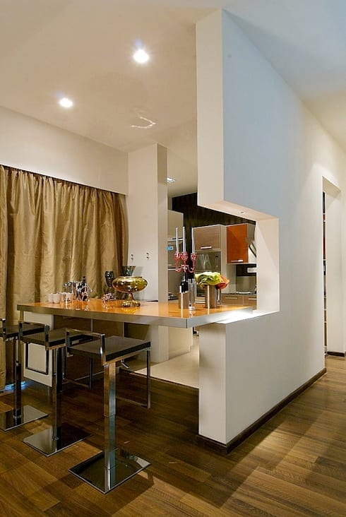 kitchen view: modern Houses by shahen mistry architects