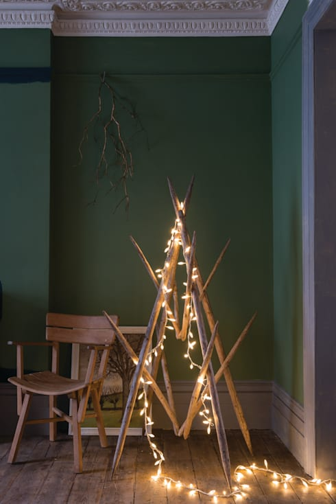 Christmas '14: modern Living room by Farrow & Ball