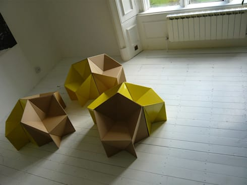 The Star Chair: minimalistic Living room by Millar+Howard Workshop