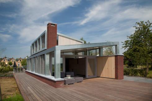 woonhuis Brinkman: moderne Huizen door Groeneweg Van der Meijden Architecten