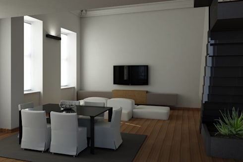 Gallery of modern living room by studio deal duinterni with architetto d interni - Architetto d interni ...