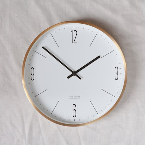 Gold Couture Clock:  Household by Fate London