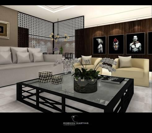 Living Room: modern Living room by Robson Martins Interior Design