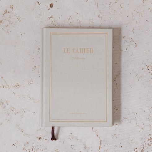 hardback Gold & cream notebook: minimalistic Study/office by Fate London