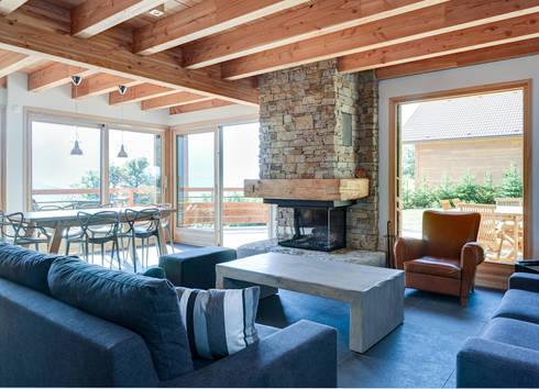 maison bois contemporaine di grosset janin homify. Black Bedroom Furniture Sets. Home Design Ideas