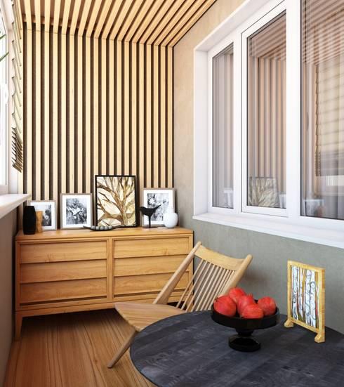 Современная квартира: Tерраса в . Автор – Студия дизайна 'New Art'