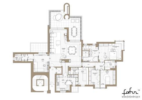 Milano 2 – Residenza Orione: Case in stile in stile Moderno di Architetto ANTONIO ZARDONI