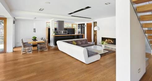 IQube House_: styl , w kategorii Salon zaprojektowany przez ARCHiPUNKTURA .architekci detalu
