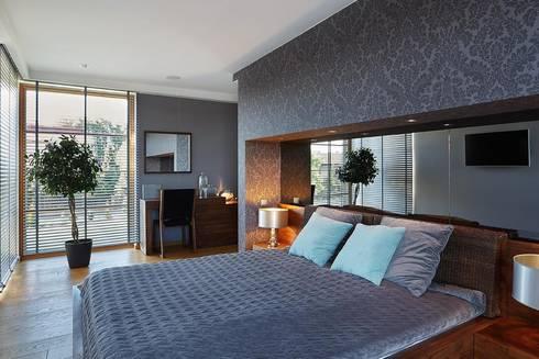 IQube House_: styl , w kategorii Sypialnia zaprojektowany przez ARCHiPUNKTURA .architekci detalu