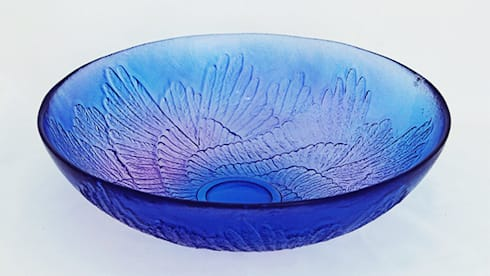 Paradise Wings Bowl, Purple by Mats Jonasson at Riverside Art and Glass.:  Artwork by Riverside Art and Glass, Contemporary Gallery