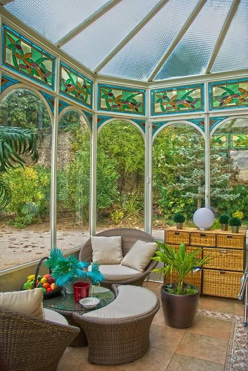 Décoration Verranda : Balcon, Veranda & Terrasse de style  par VITRAUX IMBERT