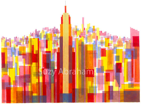 Manhattan Impression No.3:  Artwork by Suzy Abrahams