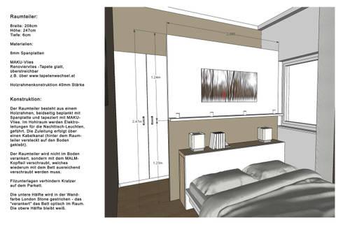 schlafzimmer wohnung p betthaupt als raumteiler - Schlafzimmer Mit Raumteiler