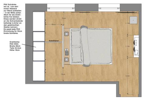 Schlafzimmer Wohnung P. | Betthaupt Als Raumteiler