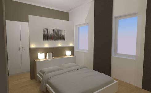Merveilleux Schlafzimmer Wohnung P. | Betthaupt Als Raumteiler