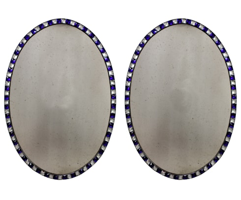 A Pair Of George III Style Studded Irish Mirrors: classic Dining room by Antiques, Lighting and The Interior