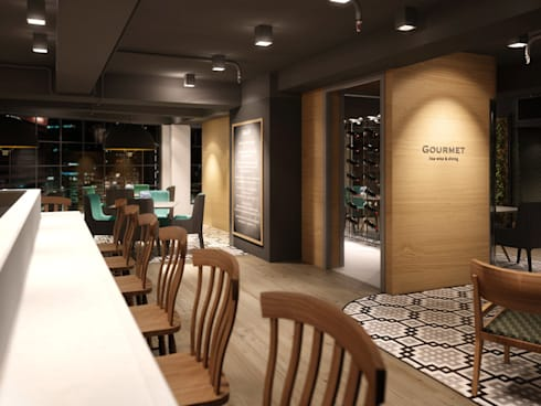 Gourmet Restaurant:   by Boutique Design Limited