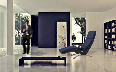 VITA Sentation –  ultiem relaxen in de huiselijke omgeving : moderne Woonkamer door Newas b.v.