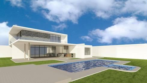 Santa Maria II: Casas de estilo minimalista por Adrian de la Garza Vela