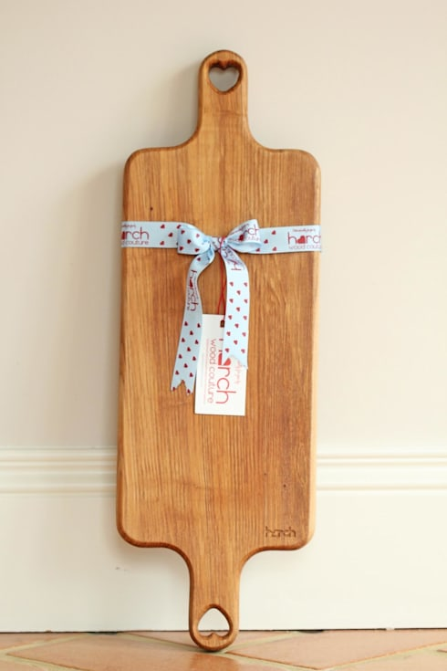 Harch Duo Handle Board- Chopping and Serving Board: eclectic Kitchen by Harch Wood Couture