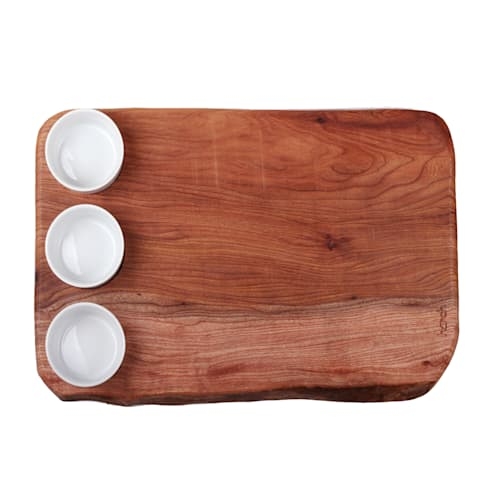 Harch Waney Edge Board with Dipping Pots: eclectic Kitchen by Harch Wood Couture