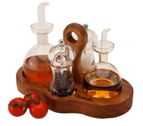 Harch Condiments Caddy: eclectic Kitchen by Harch Wood Couture