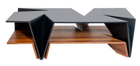 Mesa Origami: Salas de estilo moderno por TALLER R