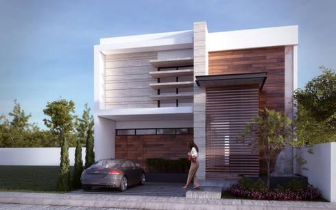 CASA MITICA : Casas de estilo minimalista por ALONSO ARQUITECTOS