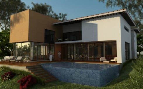 CASA PUERTA DE HIERRO: Casas de estilo moderno por ALONSO ARQUITECTOS