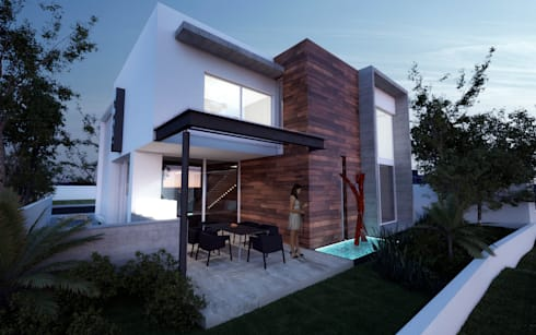 CASA MADEIRA: Casas de estilo minimalista por ALONSO ARQUITECTOS