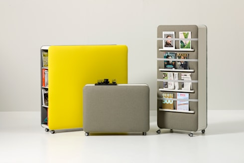 Pillow Acoustic Furniture for Cascando 2014: moderne Studeerkamer/kantoor door SMOOL by Robert Bronwasser