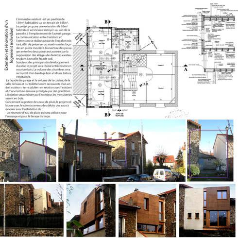 Extension d 39 une maison individuelle en ossature bois for Extension maison 93